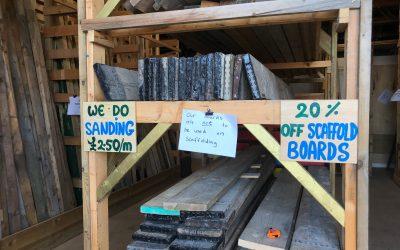 20% off all scaffold boards