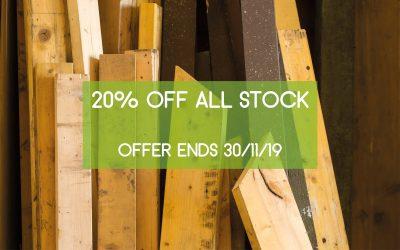 20% off all stock in November