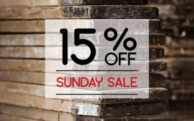 Save 15% off