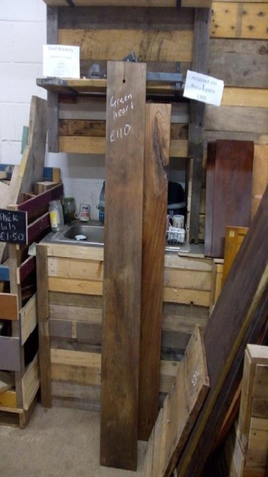 Greenheart timber